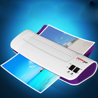 cold laminator - A4 Automatic Office Photo Document White Purple Plastic Thermal and Cold Pouch Laminator