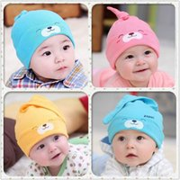 Wholesale Lovely Unisex Soft Crochet All children s clothes and accessories Baby Boy Girl Hat Infant Cotton Beanie Warm caps for children