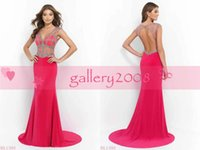 sextoy - Sextoy Prom Dresses vestido de novia Sleeveless Sexy See Though Sheer Evening Gowns With Crystal Beaded Christmas Party Dress BL9907