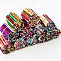 fimo canes - 50Pcs DIY D fruit Flower Fimo Canes Rods Nail Art tips Glitters Decorations