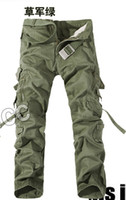 belted cargo pants - Brand Military Army Camouflage Cargo Pants Plus Size Multi pocket Overalls Trousers Men Color No Belt
