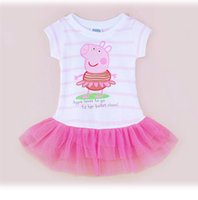 Wholesale New Baby girl summer lovely soft cotton and tulle flower dress st birthday party dress