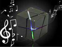 Wholesale Edge Bluetooth Speaker Cube Square LED Portable Wireless Stereo Mini Mp3 Speaker FM Radio SuperBass Hidden Button