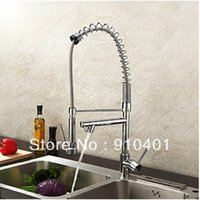 bar sink stainless steel - And Retail Promotion Luxury Chrome Brass Kitchen Bar Vessel Sink Mixer Tap Swivel Spout Dual Sprayer