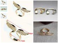 2015 alas de ángel de diamante de apertura del anillo de la manera luna perla apertura de los puntos de venta de anillos baratos de la joyería de la venta de porcelana 24pcs ZL