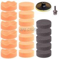 Wholesale 19Pcs quot mm Buffing Pad Polishing Pad Kit For Car Polisher M14 Thread