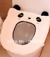 Wholesale P2 Soft plush panda design toilet cover for toilet seat seat heating mat