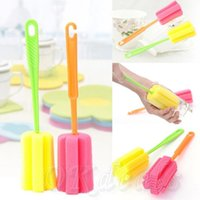 Wholesale 50PC Sponge Glass Bottle Cup Cleaner Kitchen Washing Cleaning Tools Random Colors New High Quality