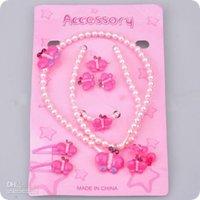 Bracelet,Earrings & Necklace beaded butterfly earrings - Kid Jewellery Children Party Gift Halloween Costumes Lovely Butterfly Beaded PC Set Jewelry Set Wh