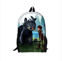 Wholesale High Quality Children School Cartoon Backpacks Kids How to Train Your Dragon Backpack Boys Student Schoolbags mochila escolar