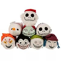 Wholesale 35pcs TSUM TSUM Halloween Toys cartoon mobile screen cleaner Jack Zero Sally Sandy plush doll For Phone plush doll christmas gift HX