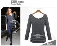 baumwolle cotton - Plus size xl neueste mode casual t shirts frauen pullover langarm baumwolle verdicken t shirt grundlegende tops tees femininas