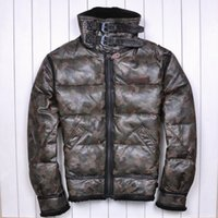america sheep - Fall Avirex Europe and America Camouflage Retro Increase Lambs wool Large lapel Thicken Top sheep Men s leather down jacket
