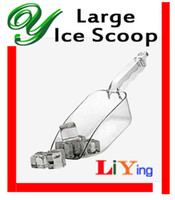 Wholesale plastic ice cube scoop party buffet serving candy sweets flour Coffee Bean grain Dog Pet Food scoops OZ PC clear kitchen bar accessories