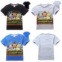 Wholesale Retail new Five Nights at Freddys children t shirts boys tees tops kids t shirts child clothes short sleeve clothing