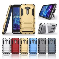 abs laser - For Asus Zenfone Laser ZE550KL Iron Man Hybrid Tough Armor Hybrid Shockproof Back Cover Dual Layer Case For Zenfone ZE500CL Zenfone E