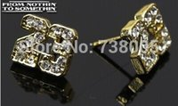 basketball earrings for men - No minimum HOT Fashion Hip Hop Basketball Air Michael Jordan Crystal Earrings For Men woman Factory