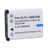 Wholesale 1200mAh Li B B Battery for Olympus Li B Pentax D Li63 Fuji NP EN EL10 more