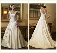 Cheap 2015 Wedding Dress A Line Scoop Lace Up Court Train Sleeveless Bridal Gown Applique Crystal Stretch Satin Designer Wedding Dresses