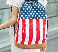 backpack uk sale - 2015 Casual shipping hot sale UK USA flag canvas packbag flag bag student bag school bag