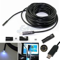 Wholesale Hot USB Endoscope Snake Inspection Camera Borescope Waterproof mm Lens Camera Endoscope M IP67 Cable Camera SV16 SV002909