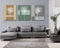 achat en gros de cadres numériques personnalisés-Décoration intérieure personnalisée Art Peinture encadrée Abstrait Arbres Impression numérique Impression sur toile Décoration intérieure Pièces Pièce Impression sur toile Tableau