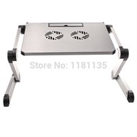 Cheap Hot Sale Portable Folding Table Desk Lap Stand With Cooling Fan Tablet Cooler Laptop Pad