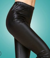 Cheap 2015 new thin plus thick velvet leather leggings feet fall and winter outer wear tight leather pants ladies big yards long