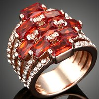 Cheap 18k gold plated Gifts Crystal CZ Ring fashion rings for women engagement diamond rings