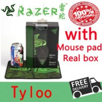 Wholesale Mice amp Keyboards Mouse Brand NEW original Razer ABYSSUS DPI with goliathus mouse pad Green light Gaming Mouse Retail
