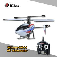 Wholesale 100 Original Wltoys V911 G CH RC Helicopter Single Blade Pearl White Mini RC Plane with Model Transmitter High quality