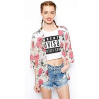 best blouse patterns - Hot Salw Best seller Women Floral Bird Pattern Chiffon Kimono Cardigan Outwear Coat Tops Blouse clothes