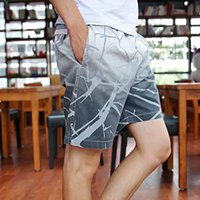 Wholesale Strip Printing Loose Breathable Shorts Fashion Home Wear Men Running Casual Shorts Outdoor Elastic Band Beach Wear B78897 Z