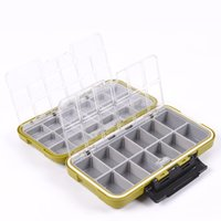 Cheap Large Water Resistence Storage Case Fly Fishing Lure Spoon Hook Bait Huge Space Storage Tackle Box Army Green