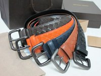 men's belts - Fashion Woman Men s mm Weave Leather Harness Buckle Belt