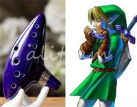 Wholesale 100 New And Top Quality The legend of zelda Time Glazed Pottery Flute Ocarina Musical Instrument Hole Alto C