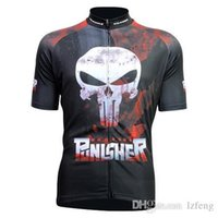 Wholesale 2015 Newest Carton Blue yellow cycling tops short sleeves shirts punisher color size XS XL cycling jersey tops