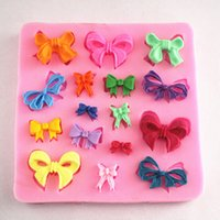 Wholesale High Quality Cake Fondant Mold Silicone Butterfly Bow Knot Design Decorating Mould Kitchen Cake Baking Tools