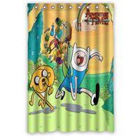 bathroom artwork - Custom Cartoon beemo adventure time Artwork Printed Polyester Shower Curtain x72 Inch Bathroom Shower Curtain
