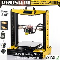 Wholesale 2016 Newest and affordaable prusa i4 Bumblebee series d printer factory price KG PLA ABS filament SD card nozzle free