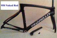 Wholesale New carbon bike frame naked red black yellow green flour pos red bob team sky full carbon bike frame K