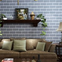 paper agent - Discount clothing store decoration agents PVC wallpaper blue brick wallpaper pattern wallpaper engineering Direct LM