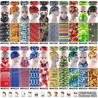 Wholesale Top Popular Camo Styles ECO Friendly Polyester Microfiber Multifunction Tube Bandana Military Stretchy Headbands