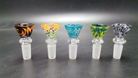 Wholesale 5 Heady colored glass bowl smoking bowl glass water pipes male bowl mm