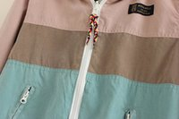 Cheap Wholesale-DQ13 Winter Jacket Women Elegant Cotton Double Side polka dot Hooded Zipper Pocket Long Sleeve Coat Outwear Casual Parkas Mujer