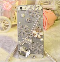 mobile phone crystal hard case - Iphone Plus s s g g c Case Luxury Rhinestone Hard Plastic Snowflake Transparent Cases for iphone6 Mobile Phone Crystal Cover