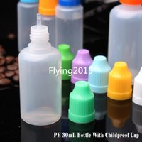 Wholesale 3000 PE Plastic Dropper Bottle ml empty E Liquid Bottle Oil Bottle for e cig With childProof Caps In Stock