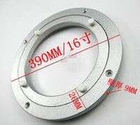 Wholesale 16inch mm Aluminum alloy table turntable bearing universal glass swivel plate