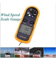 Wholesale free GM816 m s MPH LCD Digital Hand held Beaufort Wind Speed Gauge Meter Scale Anemometer Thermometer Anti wrestling Measure top sale
