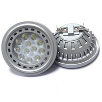 Wholesale 1PC NEW AR111 LED Epistar Chips SMD LED AC V W W W W Plastic And Aluminum Dimmable Warm White GU10 G53 AR111 LED Bulb Lamp